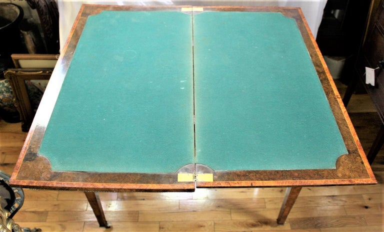 Antique French Louis XVI Styled Games Table with Sevres Styled Porcelain Plaques For Sale 9