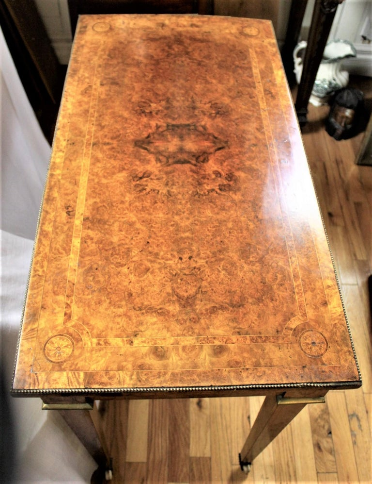 19th Century Antique French Louis XVI Styled Games Table with Sevres Styled Porcelain Plaques For Sale