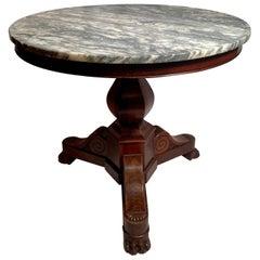 Antique French Mahogany Center Table, circa 1830-1840