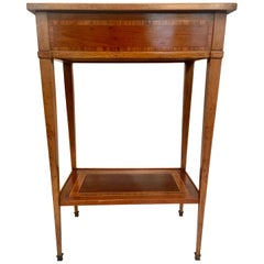 "Antique French Mahogany ""Directoire"" Lamp Table, Circa 1870-1890"