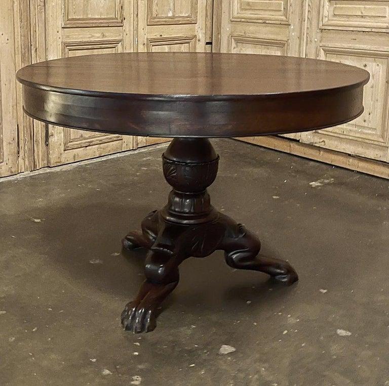 Napoleon III Period French Mahogany Empire Style Center Table In Good Condition For Sale In Dallas, TX