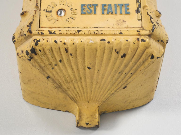 Antique French Mailbox from the Early 1900s For Sale 4