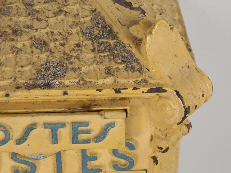 Country Antique French Mailbox from the Early 1900s For Sale