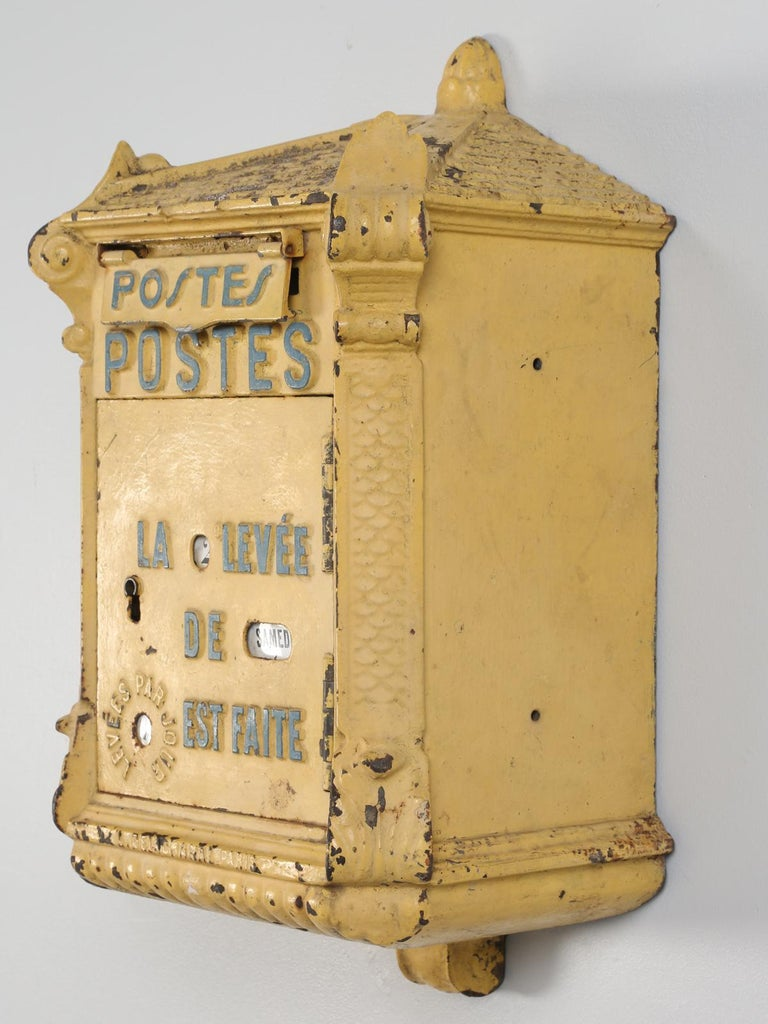 Early 20th Century Antique French Mailbox from the Early 1900s For Sale