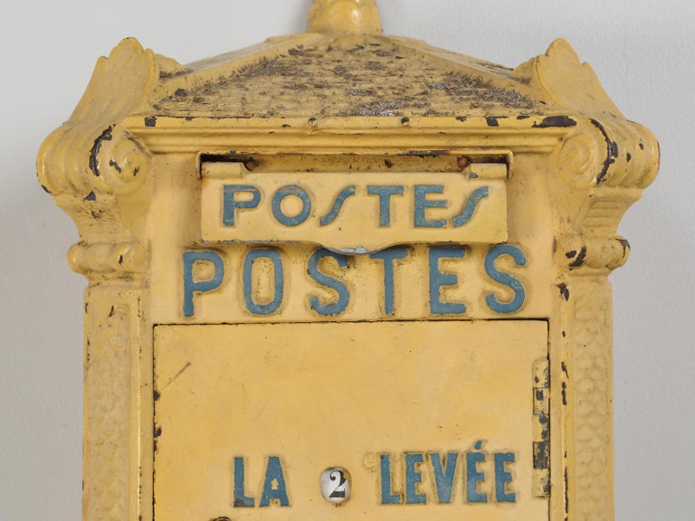 Iron Antique French Mailbox from the Early 1900s For Sale
