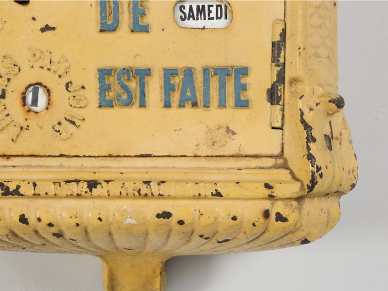 Antique French Mailbox from the Early 1900s For Sale 3