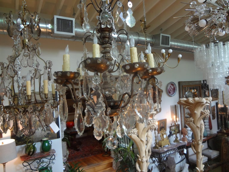 Antique French Maison Baguès Attributed Beaded and Crystal Chandelier For Sale 5