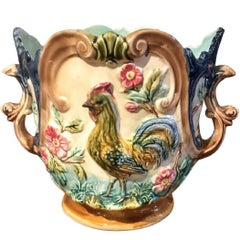 Antique French Majolica Planter, circa 1890