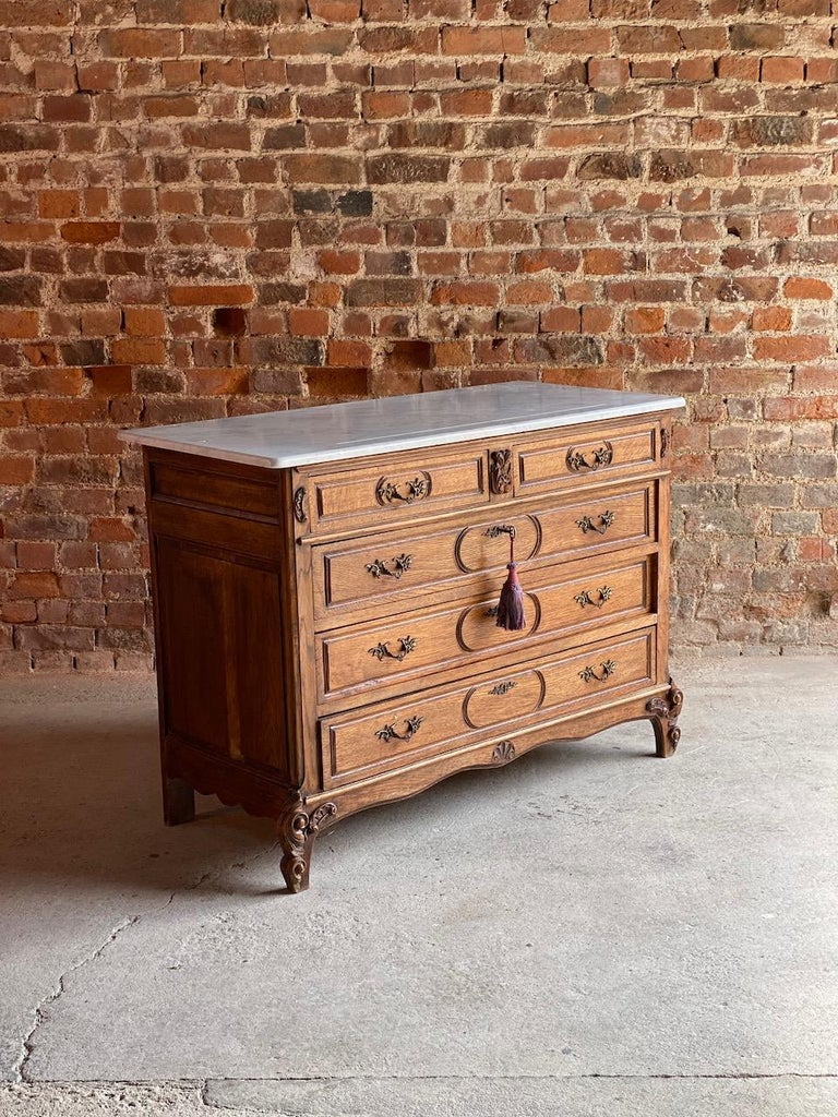 Antique French Marble Chest of Drawers, France, circa 1890 Number 1 7