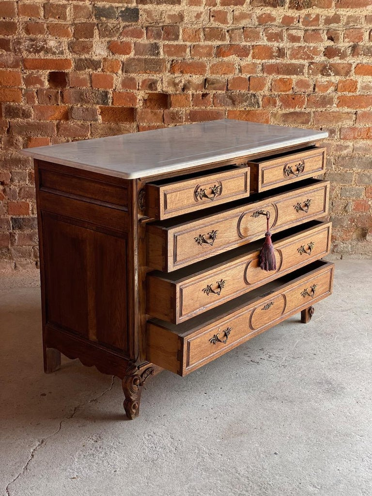Napoleon III Antique French Marble Chest of Drawers, France, circa 1890 Number 1