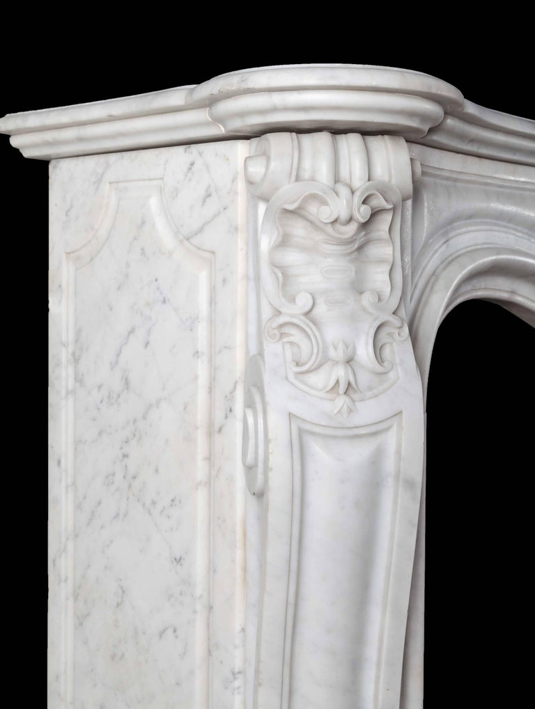 Louis XV Antique French Marble Fireplace For Sale