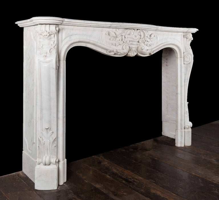 Antique French Marble Fireplace In Excellent Condition For Sale In Tyrone, Northern Ireland