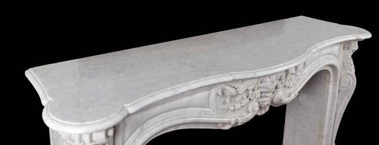 19th Century Antique French Marble Fireplace For Sale