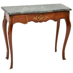 Antique French Marble-Top Console Table