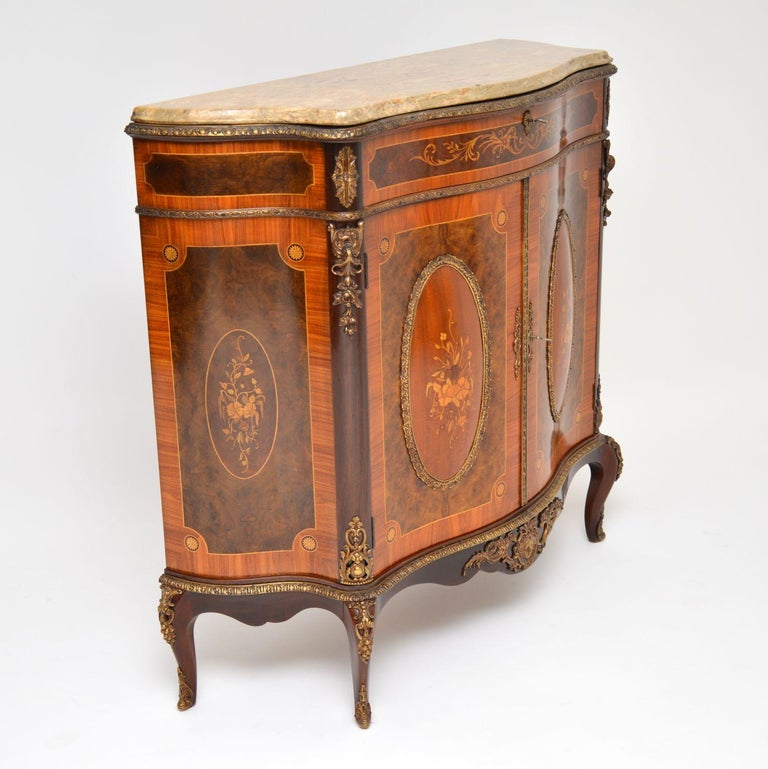 Antique French Marble-Top Ormolu Mounted Cabinet In Good Condition For Sale In London, GB