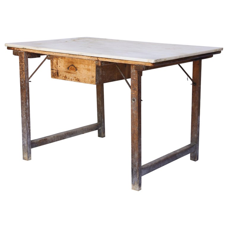 Antique French Marble Top Work Table For Sale At 1stdibs