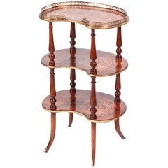 Antique French Marquetry Étagère
