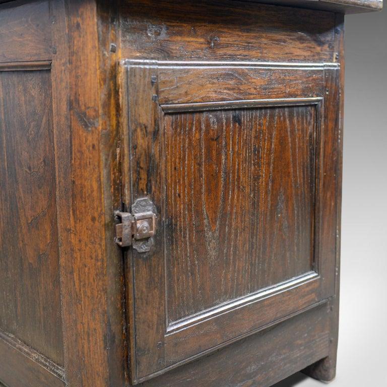 Antique French Mayoral Clerk's Desk, Oak, Elm, Mid-19th Century, circa 1850 6