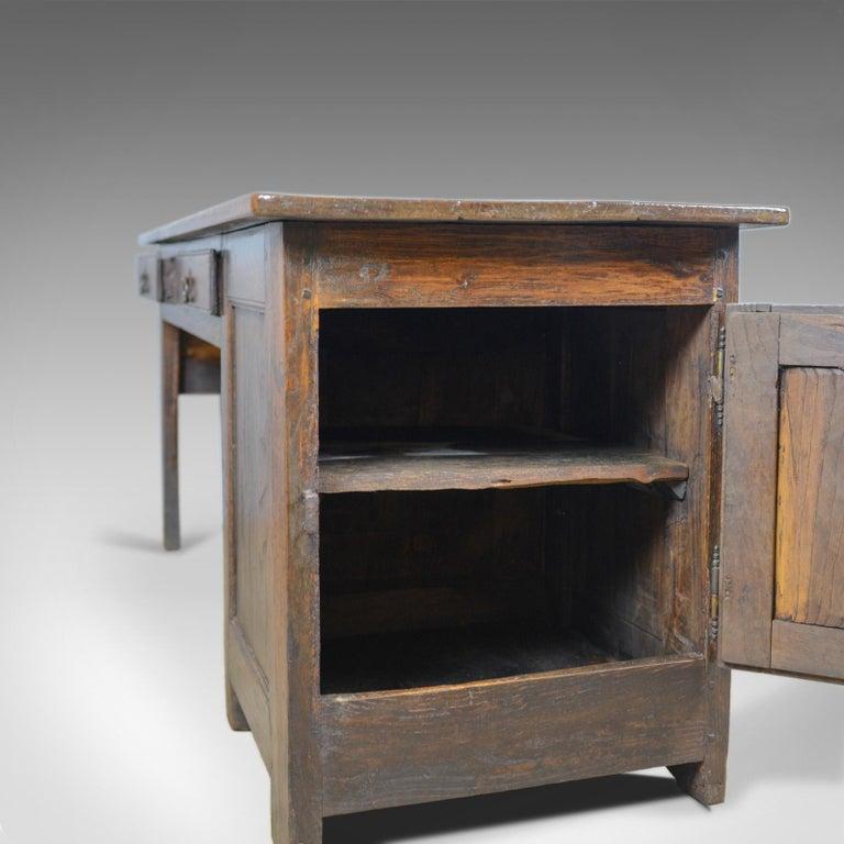 Antique French Mayoral Clerk's Desk, Oak, Elm, Mid-19th Century, circa 1850 7