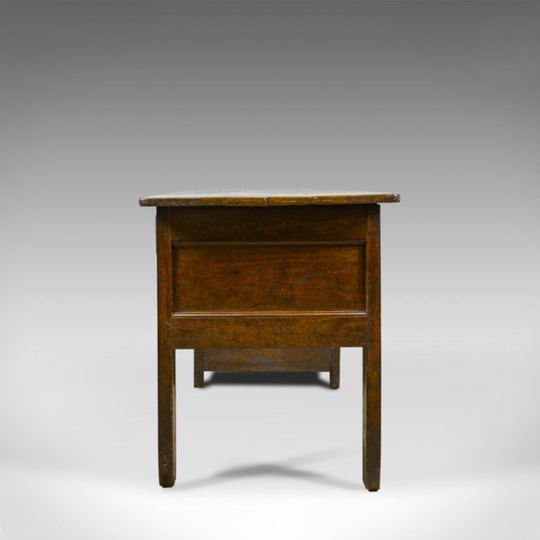 French Provincial Antique French Mayoral Clerk's Desk, Oak, Elm, Mid-19th Century, circa 1850 For Sale
