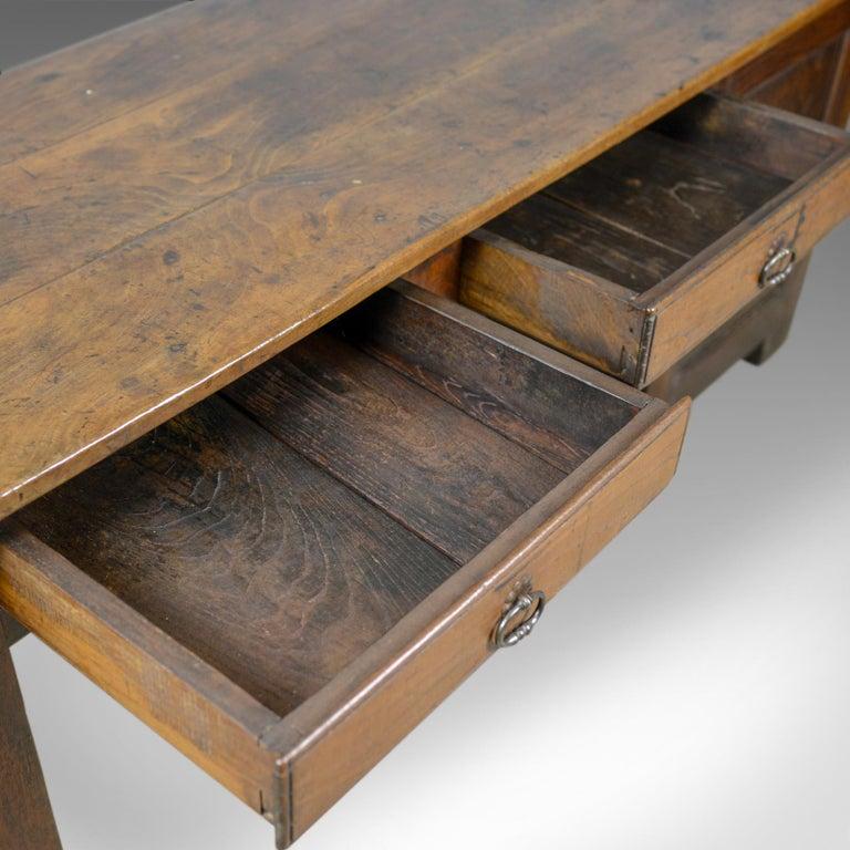 Antique French Mayoral Clerk's Desk, Oak, Elm, Mid-19th Century, circa 1850 4
