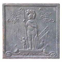 Antique French 'Minerva' Fireback, 19th Century