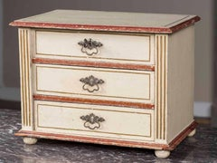 Antique French Miniature Sample Painted Chest of Drawers circa 1890