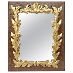 Antique French Mirror Carved Giltwood, circa 1940