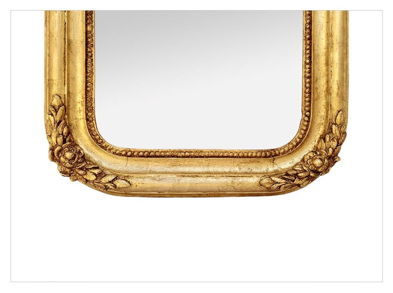 Antique French Mirror, Romantic Style, circa 1830 In Good Condition For Sale In Paris, FR