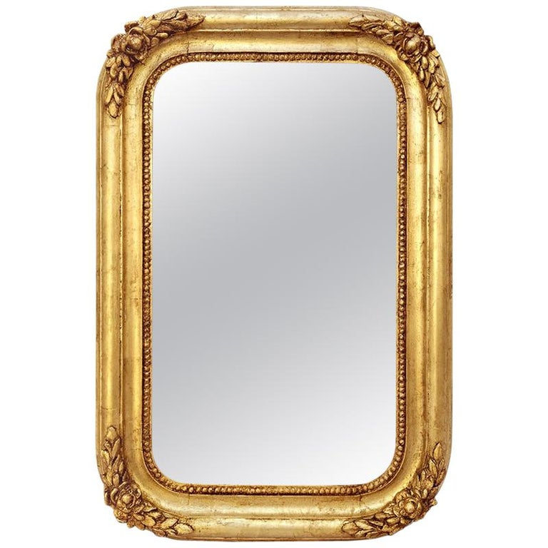 Antique French Mirror, Romantic Style, circa 1830 For Sale