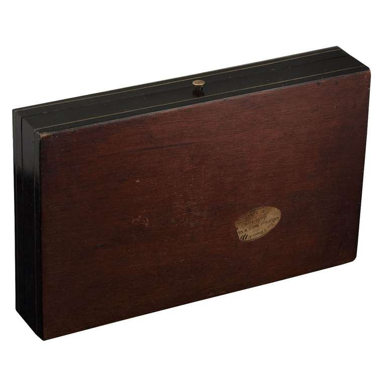 Antique French Napoleon III Game Box in Boulle Marquetry For Sale 2