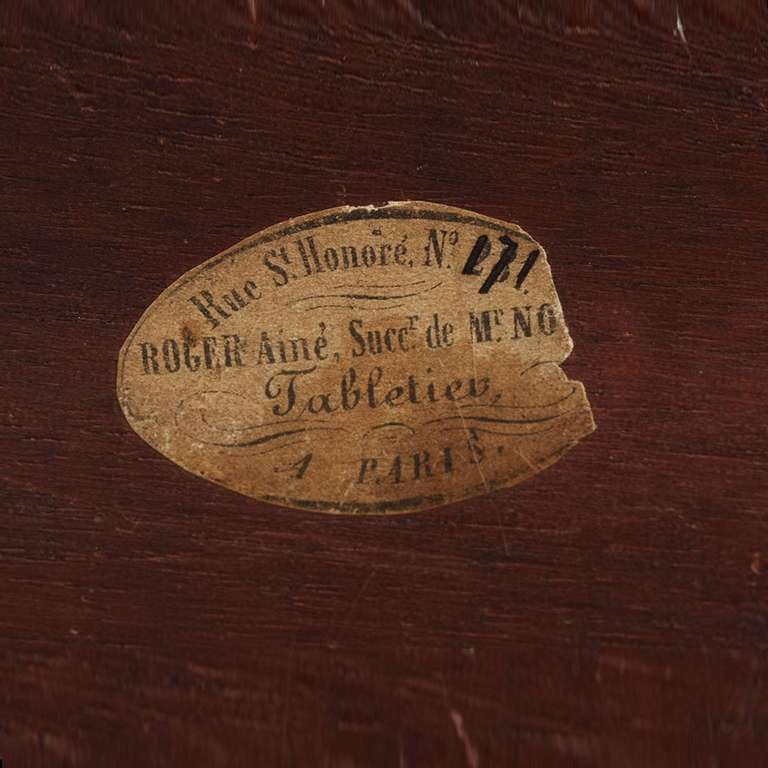 Antique French Napoleon III Game Box in Boulle Marquetry For Sale 3