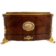 Antique French Napoleon III Mounted Kingswood and Ormolu Traveling Box
