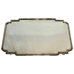 Antique French Napoleon III Silver Plated Plateau, circa 1860