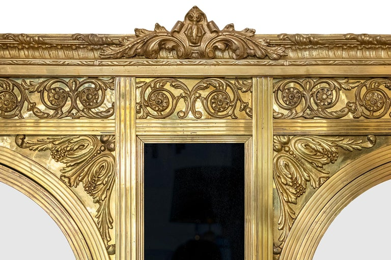 Antique French Napoleon III Style Bronze And Glass Wardrobe For Sale 2