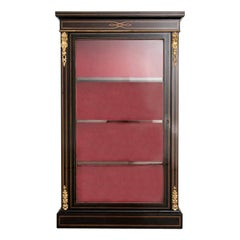 Antique French Napoleon III Vitrine After Renovation, 1860
