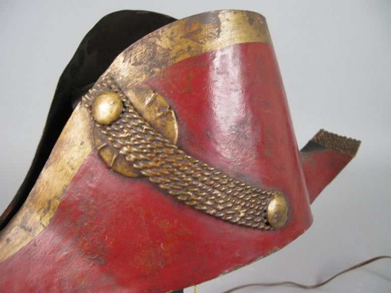 20th Century Antique French Napoleonic Chapeau Lamp For Sale