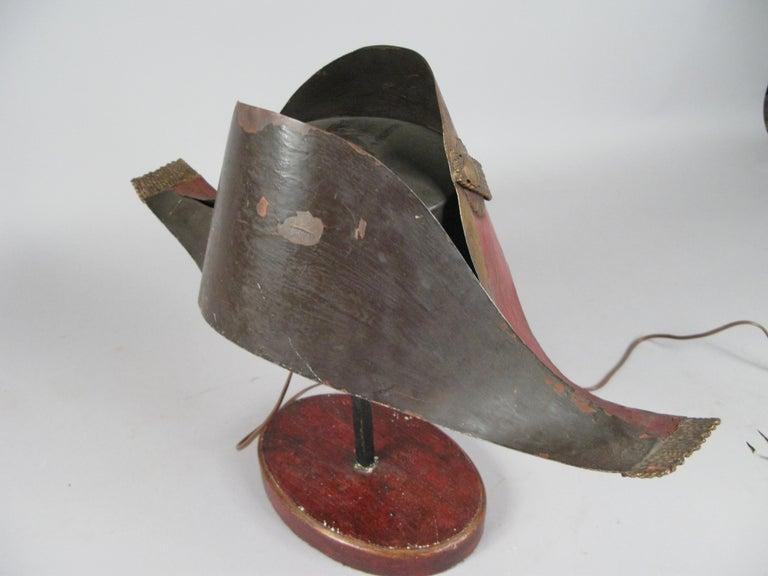 Antique French Napoleonic Chapeau Lamp For Sale 3