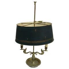 Antique French Napoleonic Tole Bouillotte Lamp