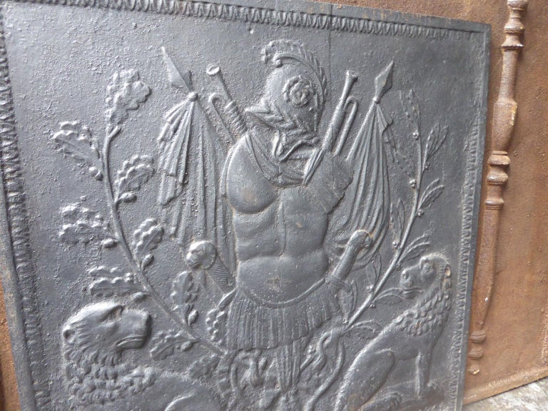 Antique French Neoclassical Fireback, 18th-19th Century For Sale 3