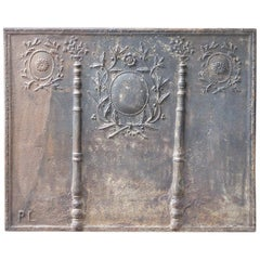 Antique French Neoclassical Fireback, 18th-19th Century