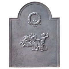 Antique French 'Neoclassical Fireback, 19th Century