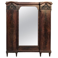 Antique French Neoclassical Mahogany Armoire