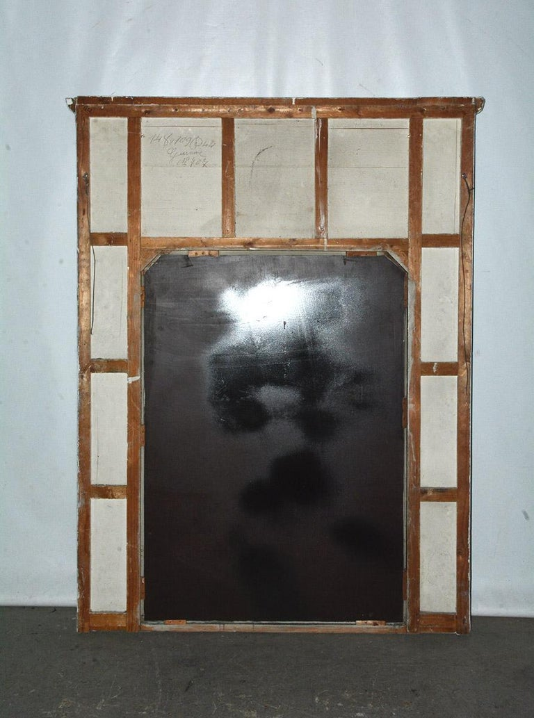 Antique French Neoclassical Mantel Mirror For Sale 4