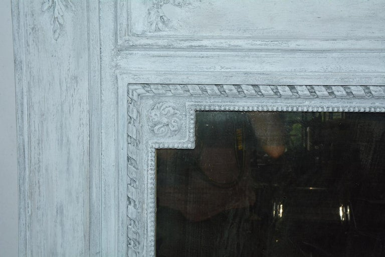 19th Century Antique French Neoclassical Mantel Mirror For Sale