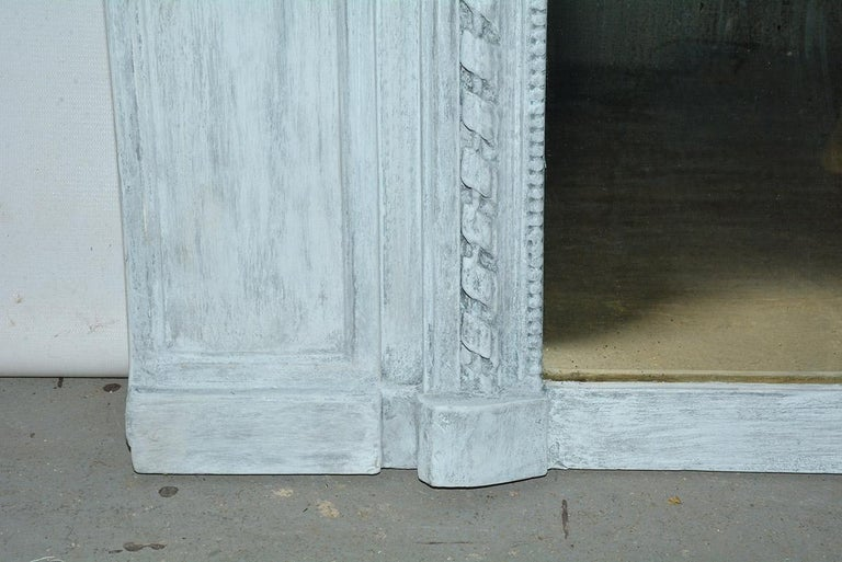 Antique French Neoclassical Mantel Mirror For Sale 1