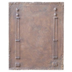 Antique French Neoclassical 'Pillars of Freedom' Fireback, 19th Century