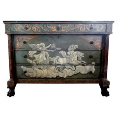Antique French Neoclassical Style Painted Commode