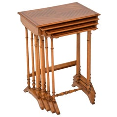 Antique French Nest of Four Tables