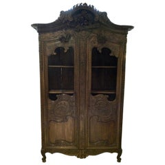Antique French Oak Armoire, 18th Century